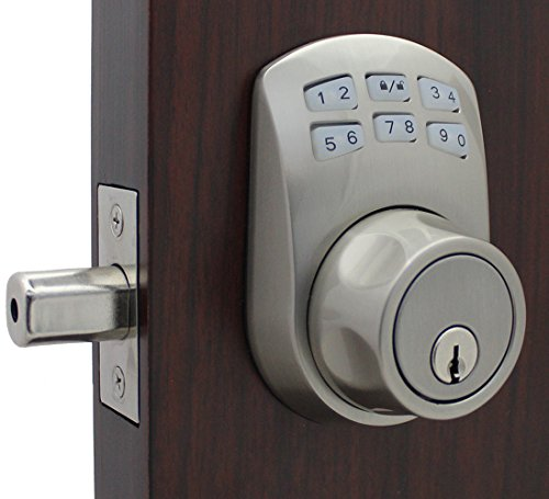 - Lockey USA SL910SN SL910SN Electronic/Mechanical Deadbolt Lock with Key Override, Zinc Alloy