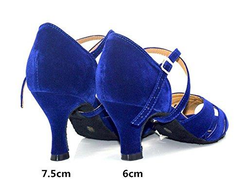 Da Scarpe blue 41 latino ballo a 35 da 6cm Danza Pompe Taogo Sandali Donne heel wdg8Rq8