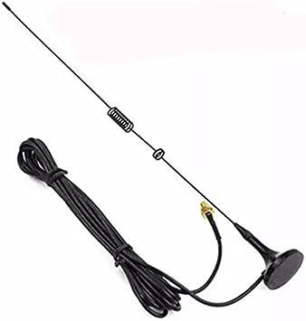 SODIAL UT-106UV Walkie Talkie Antena Diamond SMA-FUT106 para Radio Ham BAOFENG UV-5R BF-888S UV-82 UV-5RE Antena Larga