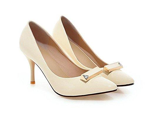 38 Las WHITE de Mujeres el Zapatos Inclinada Pink Finas Baja de 39 Boca la bajo del los Boca Corte a Ayudar de Zapatos Baja la para apuntó pie Dedo XIE con w7CIfqf