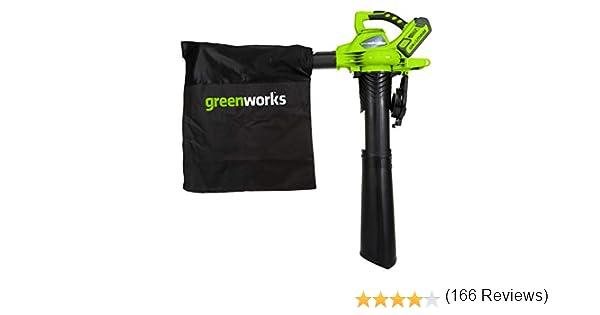 Greenworks Aspiradora de Batería y Soplador de Hojas 2-in-1 ...