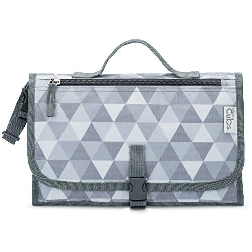 Baby Portable Changing Pad, Diaper Bag, Travel Mat Station, Large Grey Pattern