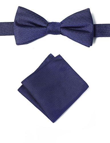 origin-ties-mens-textured-solid-color-silk-bow-tie-pocket-square-set-navy-blue
