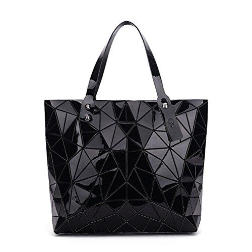 Black Grande Geometrico Ladies Tracolla Big Designer Geometria Borsa Brands Luxury Borsetta A Donne B7n8x
