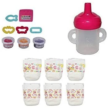 Amazon Com Hasbro Baby Alive Bottle Sippy Cup Diapers