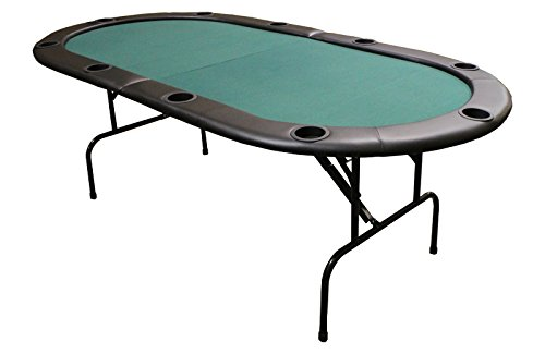 JP Commerce Sturdy Design Texas Holdem Folding Poker Table with Legs, 82 Inch - Green by JP Commerce