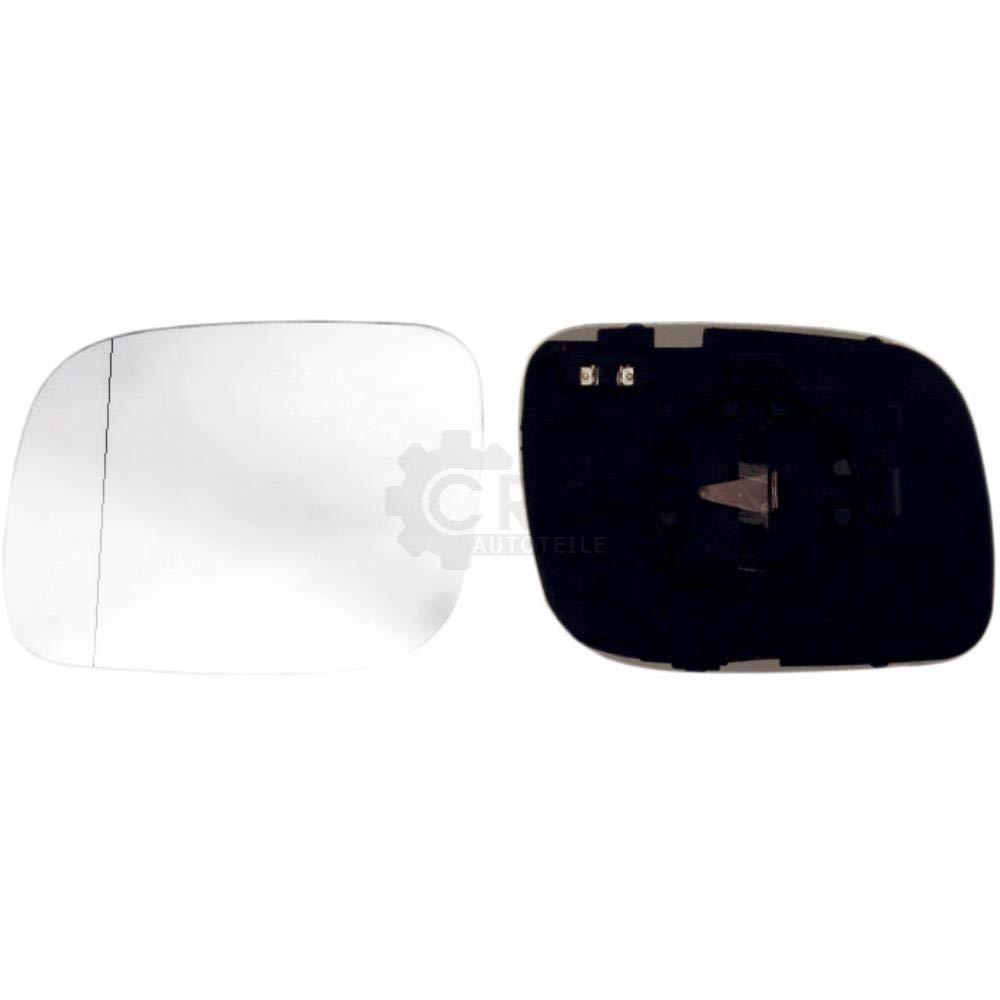 konvex beheizbar Spiegelglas mit Haltefuss Set f/ür TOUAREG 7LA 7L6 7L7
