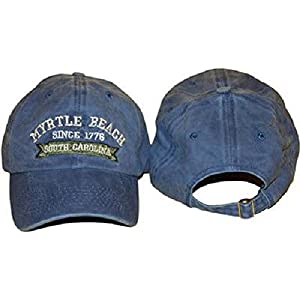 f1301242ea1 South Carolina SC Myrtle Beach Blue Jeans Denim Washed Style Embroidered Hat  Cap