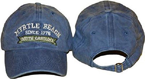 South Carolina SC Myrtle Beach Blue Jeans Denim Washed Style Embroidered Hat ()