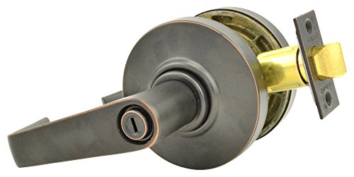 Schlage commercial AL40SAT643 AL Series Grade 2 Cylindrical Lock, Privacy Function, Saturn Lever Design, Aged Bronze Finish by Schlage Lock Company