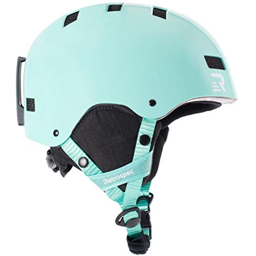 Retrospec Traverse H1 Ski & Snowboard Helmet, Convertible to Bike/Skate, Teal Gloss, Small (51-55cm)