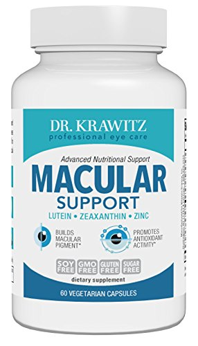Dr. Krawitz AREDS 2 Macular Support Eye Vitamins - 60 veg caps by Dr. Krawitz Professional Eye Care Supplements (Image #1)
