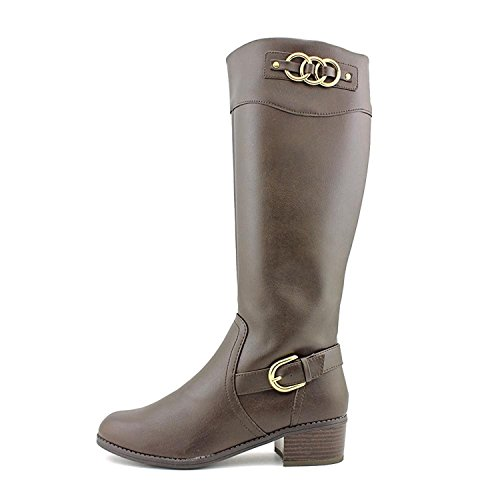Karen Scott Womens Donnely Almond Toe Boots A Metà Polpaccio Marrone