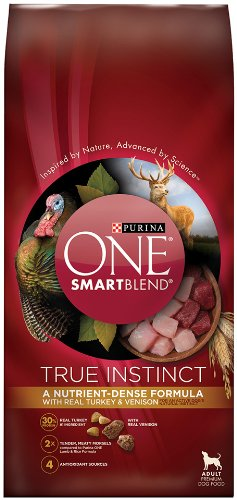 Purina ONE SmartBlend True Instinct with a Blend of Real Turkey & Venison NATURAL Adult Dry Dog Food - (1) 15 lb. Bag (Purina Lb 50 Food Dog)