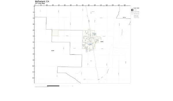 Amazon.com: ZIP Code Wall Map of McFarland, CA ZIP Code Map ...