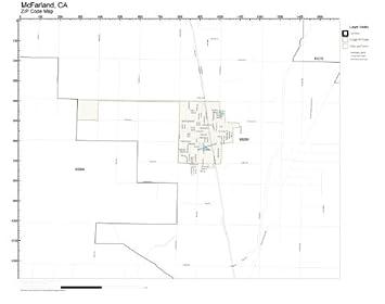 Amazon.com: ZIP Code Wall Map of McFarland, CA ZIP Code Map Not ...