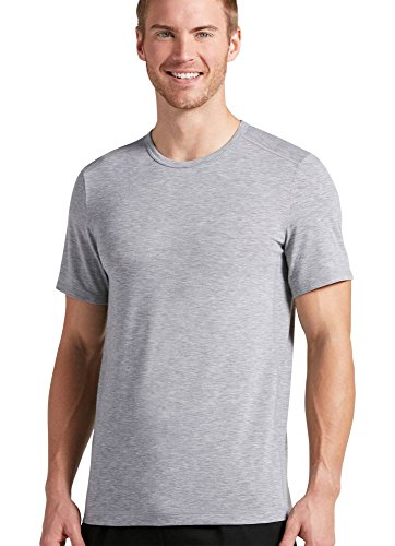 Jockey Xl Crewneck T-shirts - Jockey Men's T-Shirts Outdoor Performance Crew Neck, Light Grey Heather, XL