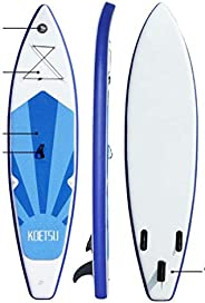 Inflatable Stand Up Paddle Board, Surfing SUP Boards, Double Layer Touring iSUP, Bottom Fin for Paddling and S