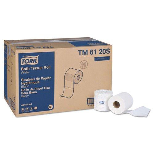 Advanced Bath Tissue - Tork TM6120S Advanced 2-Ply Bath Tissue, 2-Ply, White, 500 Sheets, 96 Rolls/carton.