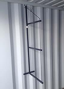 Container estantería soportes, Gray / Black