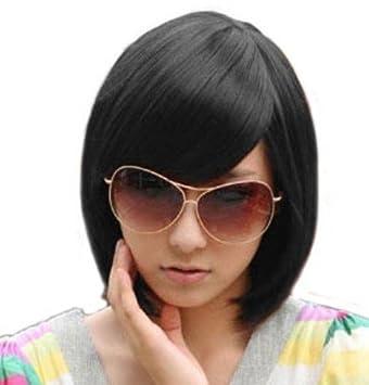 Astonishing Amazon Com Short Black Bob Hairstyle Wig Face Framing Style Wig Short Hairstyles Gunalazisus