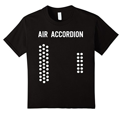 Kids Air Accordion T-Shirt 12 Black