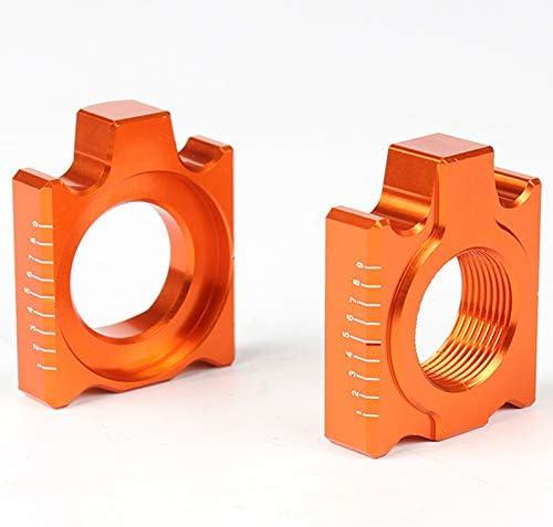 SODIAL Rear Chain Adjuster Axle Blocks For Ktm Sx Sxf Xc Xcf Exc Excf Xcw Xcfw 85 125 150 200 250 300 350 400 450 500 525 530