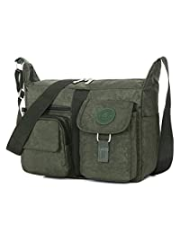 Hynbase Women's Classic Canvas Cross Boby Bag Wild Shoulder Bag