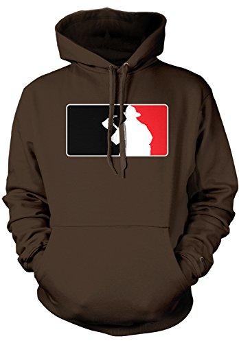 - Amdesco Men's Firefighter Silhouette Emblem, Fire Fighter Hooded Sweatshirt, Dark Chocolate 2XL