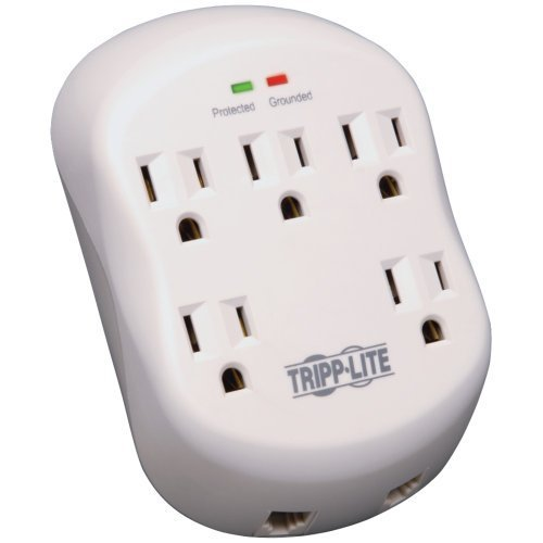 Tripp Lite Surge Protector Wallmount Direct Plug In 5 Outlet RJ11 1080 - Mount Rj11 Wall