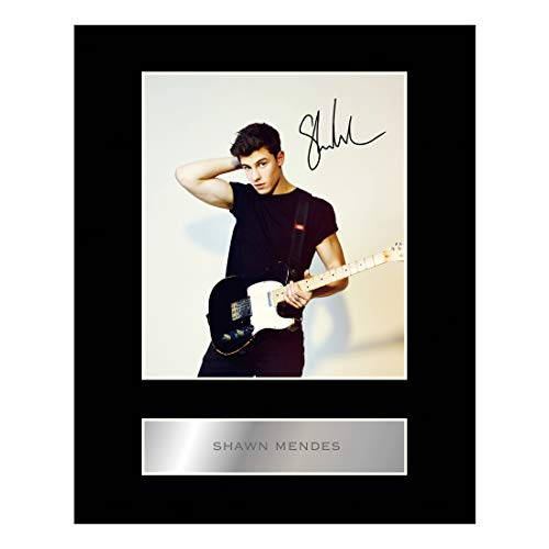 iconic pics Shawn Mendes Signed Mounted Photo Display