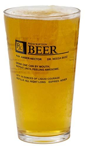 Funny Guy Mugs Prescription 16 Oz Pint Glass