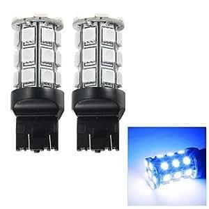 MK- t20 merdia 3w 110lm 27x5050smd llevado luz de freno azul / lámpara de instrumento / la luz de circulación diurna (2 PC / 12v)