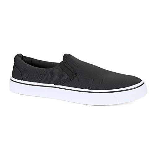 Influence Men's Gore Slip-On Casual Sneaker, Black, Size 9 (Shoes Men Canvas)