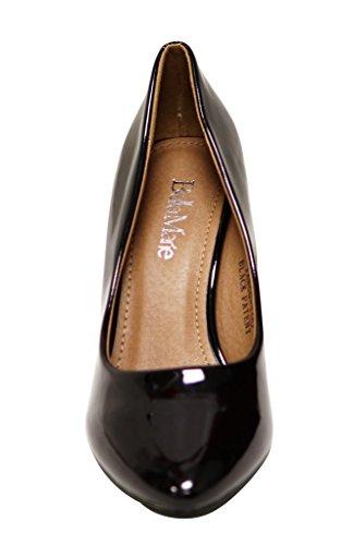 1 Black Marie stiletto pumps Bella almond Tango patent Womens toe shoes classic high heel wAfRqxpf