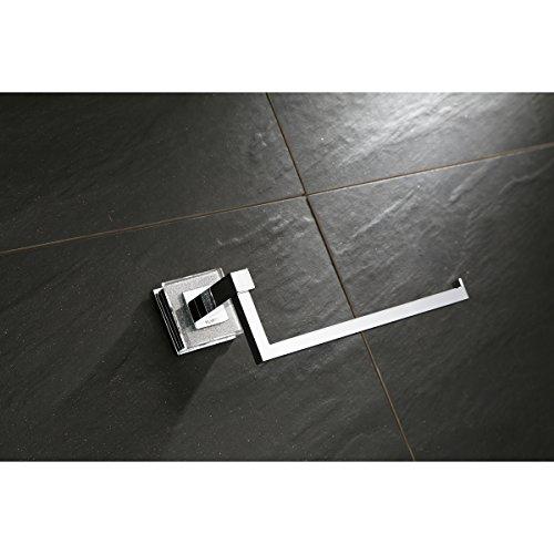Ruvati RVA5005 Valencia Towel Ring Luxury Bathroom Accessory, Crystal and Chrome by Ruvati (Image #3)