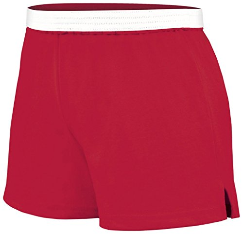 Soffe Juniors Athletic Short, Red, Small