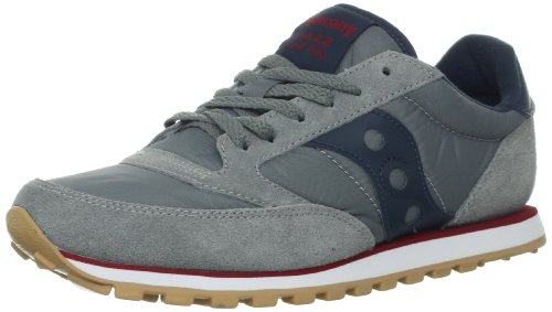 Saucony Originals Men's Jazz Low Pro Sneaker,Charcoal/Red,9.