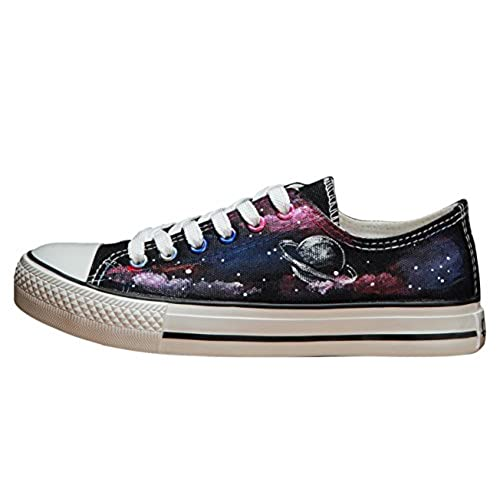 Constellation Space Star High Top Lace Up Canvas Shoes Unisex Designs Hand-Painted Shoes Sneakers Personalized Adult Casual Shoes for Men and Women