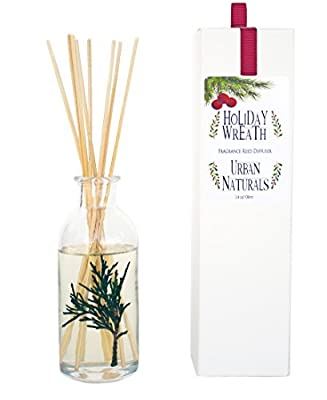 Urban Naturals Reed Diffuser Set | Made with Essential Oils & Real Botanicals | Decorative Air Freshener for Large Rooms | Beautiful Home Décor Makes a Great Gift