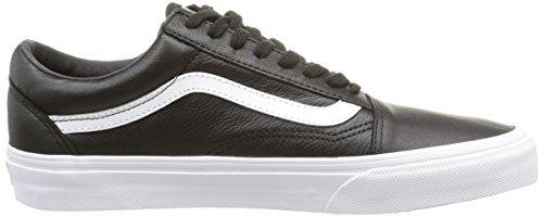Vans U Old Skool Zip Leather, Baskets Basses Mixte Adulte Noir (Premium Leather/Black)