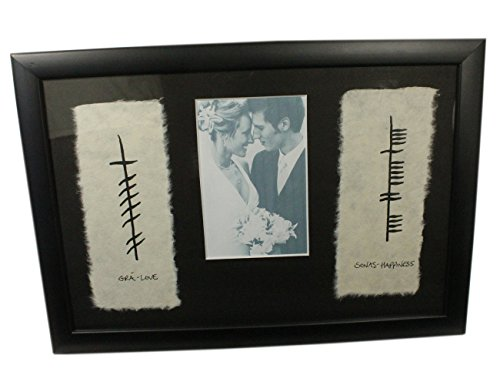 (Biddy Murphy Ogham Irish Wedding Photo Frame Love & Happiness Made in)