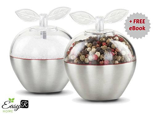 Cute Salt and Pepper Grinder Set - Premium - Apple Crate Coffee Table