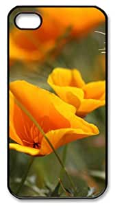 iphone 4 case retro covers Summer Flowers PC Black for Apple iPhone 4/4S by icecream design
