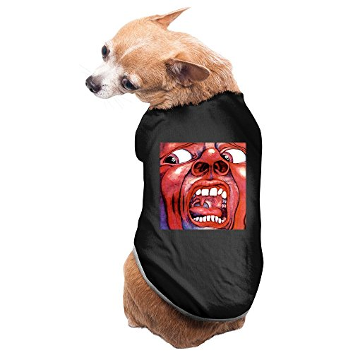 Crimson Bolt Costume (Fashion Sleeveless Pet Supplies Eyes Wide Open King Crimson Band Logo Dog Costumes Dog Shirt)