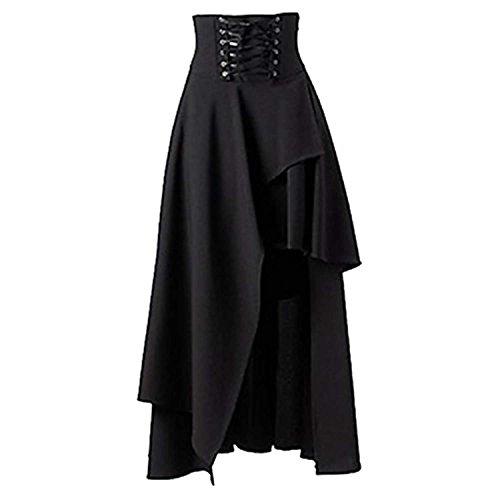 Women's Gothic Lolita Band Waist Skirt Steampunk Vintage Style Skirt ()