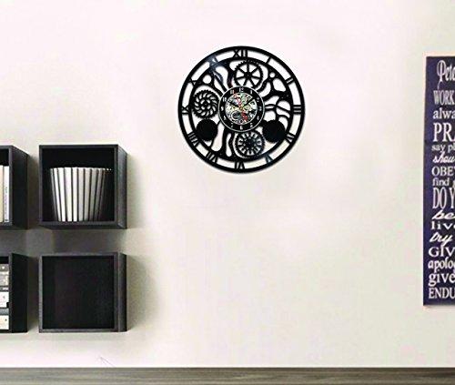 Steampunk Vinyl Wall Clock Fan Cog Wheels Art Living Room Accessories Decor Details Cogs Modern Gifts Parts Gears… 4