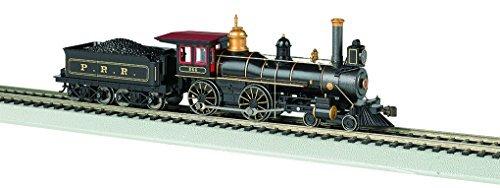 Tender Pennsylvania Railroad - 4-4-0 W/WOOD TENDER LOAD - STANDARD DC -- PENNSYLVANIA RAILROAD (BLACK, GRAPHITE, GOLD)
