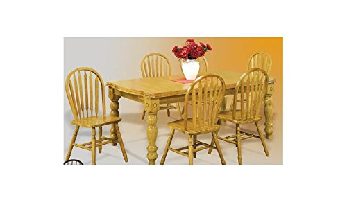 Sunset Trading DLU-SLT4272-LO Oak Selections Dining Table, Light Finish ()