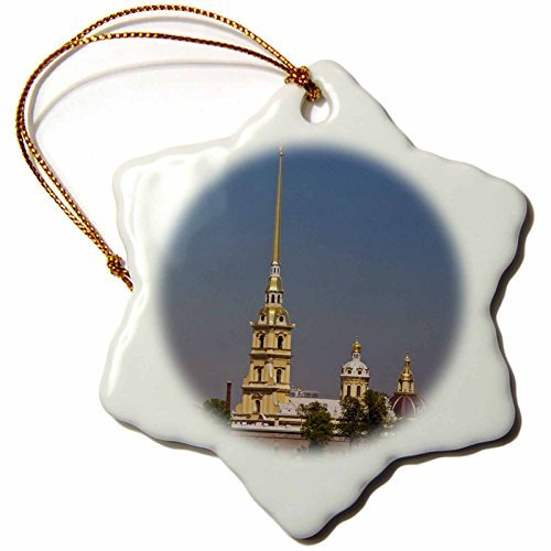 Christmas Ornament Danita Delimont - Cathedrals - Russia, St Petersburg, St Peter and Paul Cathedral - EU WBI - Walter Bibikow - Snowflake Porcelain Ornament (Peter And Paul Cathedral St Petersburg Russia)